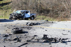 """<div class=""""source"""">Brandon Mattingly</div><div class=""""image-desc"""">Jerry Birch Jr. was injured in this wreck on KY 555 on Dec. 12 near the entrance to the Bluegrass Parkway. Birch was flown from the scene, according to local law enforcement. He sustained non-life threatening injuries from the crash, which also involved a tractor trailer.</div><div class=""""buy-pic""""><a href=""""/photo_select/13558"""">Buy this photo</a></div>"""