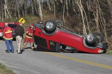 "<div class=""source"">Photo by Brandon Mattingly</div><div class=""image-desc"">A single-car accident on Lawrenceburg Road last Wednesday was one of three injury accidents reported by the Washington County Sheriff Department over the last three weeks.</div><div class=""buy-pic""><a href=""/photo_select/15352"">Buy this photo</a></div>"