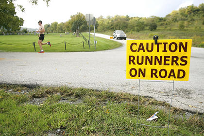 The course was well-marked throughout Washington County with signs, message boards and emergency personnel on hand.