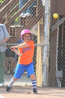 Ava Abell took a cut at the plate.