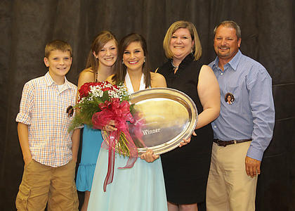 Lizzy Graves, Distinguished Young Woman of Washington County 2012, center, posed with her family, from left: her brother, Jacob; her sister, Emilee; and her parents, Lori and Tim Graves.