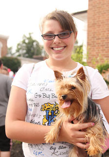 In the best dressed dog competition, second place went to Lola, a teacup Yorkie, belonging to Alex Mattingly.