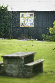 This barn quilt, titled Butterfly, can be seen on the walking trail at Idle Hour Park in Springfield. 