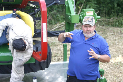 Dale Dobson, with the Kentucky Department of Ag Safety, talked about the importance of roll bars.