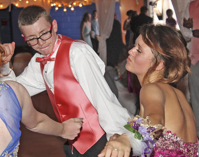 Devin DeBuysere and Brooklyn Hampton dance the night away.