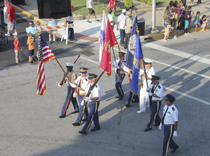 The Marion County Vetarans Honor Guard kicked off the festivities by helping present the national anthem.