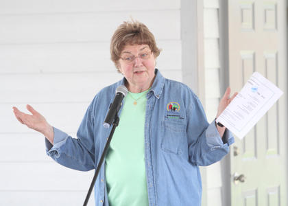 Sr. Claire McGowan speaks to 3rd-grade students at Earth Day.