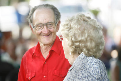 Tommy Kidwell, left, and Agnes Wimsatt, right, shared a smile after a dance.