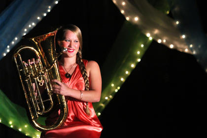 Candace Kimball performed Euphonium for her talent.