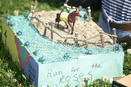 Students created detailed dioramas in honor of Derby.
