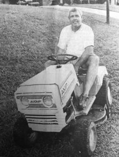 Roger Milburn fired up the lawn mower on Labor Day in years past. According to the archives, the weather was chilly and partially cloud, but we think Milburns shorts indicate otherwise.