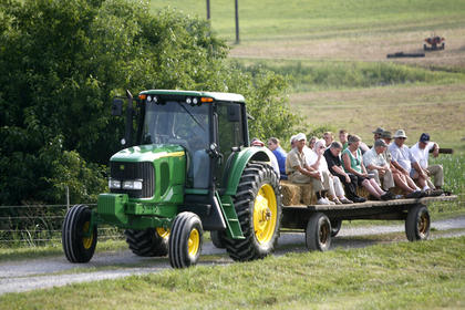 St. Catharine Farm field day participants enjoyed a wagon ride over the farm as they learned about different topics in agriculture. 