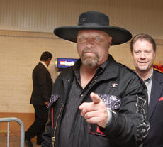 """<div class=""""source"""">Jeff Moreland</div><div class=""""image-desc"""">Country musician Eddie Montgomery posed for a photo as he left the red carpet and headed to Millionaire's Row at The Kentucky Derby Saturday.</div><div class=""""buy-pic""""><a href=""""/photo_select/8603"""">Buy this photo</a></div>"""