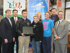 """<div class=""""source"""">Jeff Moreland</div><div class=""""image-desc"""">Washington County High School students with the DECA Club were among the recipients of new computers from the Computers 4 Kids program operated by ConnectKentucky. From left, back row, are Sen. Dan Kelly, Superintendent of Washington County Schools Robert</div><div class=""""buy-pic""""><a href=""""/photo_select/6290"""">Buy this photo</a></div>"""