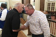 "<div class=""source"">Jeff Moreland</div><div class=""image-desc"">Newly elected Washington County Judge-Executive Tim Graves, right, is congratulated by former Washington County Circuit Court Clerk George Graves following the reading of Tuesday&#039;s election results.</div><div class=""buy-pic""><a href=""/photo_select/25360"">Buy this photo</a></div>"