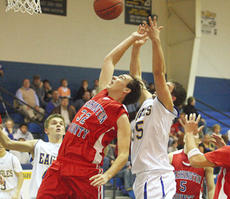 """<div class=""""source"""">Peter W. Zubaty/Landmark News Service</div><div class=""""image-desc"""">Matthew Hale goes up for a rebound against a Bethlehem opponent. The Commanders fell 63-50 to the Eagles.</div><div class=""""buy-pic""""><a href=""""/photo_select/5156"""">Buy this photo</a></div>"""