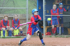 """<div class=""""source"""">Jimmie Earls</div><div class=""""image-desc"""">Washington County's Jaclyn Kelty puts the ball in play and picked up an RBI as the Commanderettes knocked off Fort Knox 6-5 Wednesday for their first win of the season.</div><div class=""""buy-pic""""><a href=""""/photo_select/4965"""">Buy this photo</a></div>"""