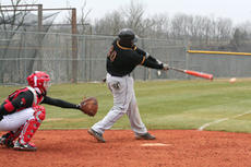"<div class=""source"">Jimmie Earls</div><div class=""image-desc"">Patrick Jones makes contact in the first inning for the Bat Pats in action against Indiana University Northwest.</div><div class=""buy-pic""><a href=""/photo_select/5291"">Buy this photo</a></div>"