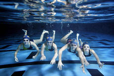 "<div class=""source"">Jesse Osbourne/Landmark News Service</div><div class=""image-desc"">From left, Hannah Spaulding, Kate Spaulding, Mary Beth Spaulding and Lilly Boone are at home in the water as they work to smash records for themselves and Bethlehem High School's swim team.</div><div class=""buy-pic""><a href=""/photo_select/4193"">Buy this photo</a></div>"
