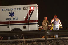 """<div class=""""source"""">Jeff Moreland</div><div class=""""image-desc"""">Emergency personnel treated a patient involved in an auto accident near Fredericktown Park Saturday night around 10 p.m.</div><div class=""""buy-pic""""></div>"""