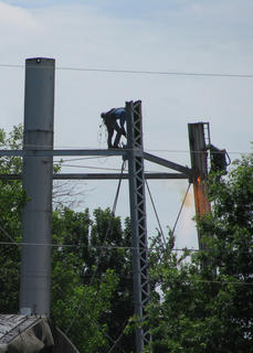 Workers dismantled the old water tower on Kentucky Avenue in Springfield last week. Springfield Sun reader Brenda Goatley shared several photos with us, and we are passing those on to you.