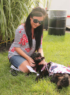 Best decorated dog honors went to FeFe, a border collie/chow mix, owned by Elizabeth Alcorn.