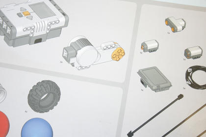 Students followed blueprints, pictured above, as well as Lego gears and parts.