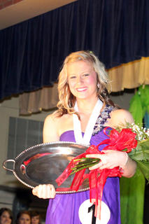 Beth Purdom collected a lot of hardware for winning the 2013 Distinguished Young Women competition.