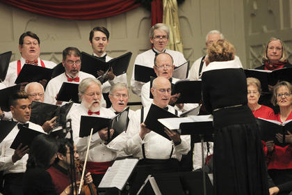 Songs performed during the weekend's concerts included a mix of traditional and contemporary Christmas songs.