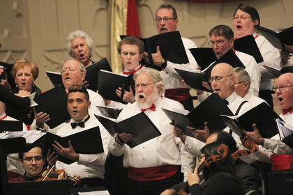 """The Christmas concerts are generally the choir's favorite to do…this group just loves to sing and loves to perform."" - Conductor, Teresa Tedder"