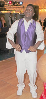"""Christopher Railey caught the crowd's attention while dancing to """"Baby Got Back."""""""