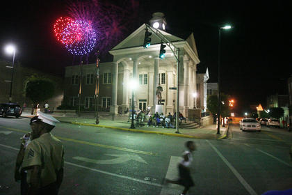Fireworks were on display downtown during the eighth-annual African American Heritage Festival.