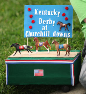 North Washington Elementary School students created Kentucky Derby hats and floats for the school's annual Derby parade.
