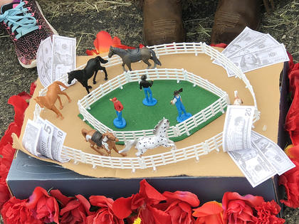 North Washington Elementary School students created Kentucky Derby hats and floats for the school's annual Derby parade and celebration.