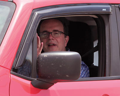 State Auditor Mike Harmon participated in the parade.