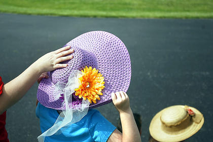 Hats of all varieties were on display Friday at North Washington.